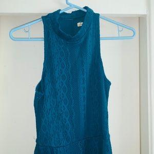 Teal Halter Dress